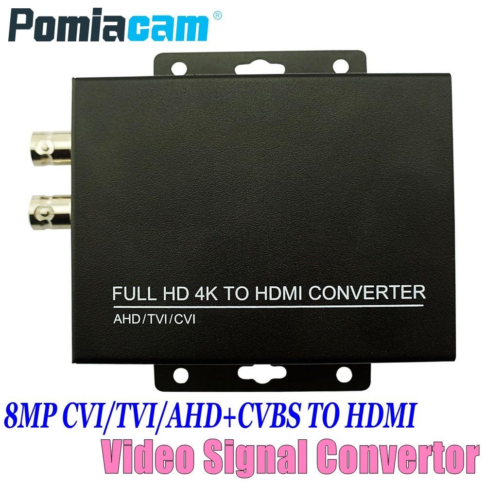 Factory Direct HDC-ADH Video Convertor Full HD 4K 8MP CVI/TVI/AHD+CVBS To HDMI Converter,Auto Match HD Input, HDMI Output 1080P