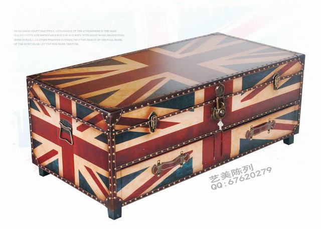 European And American Style Cafe Kvt Union Jack United States Living Room Coffee Table Dining