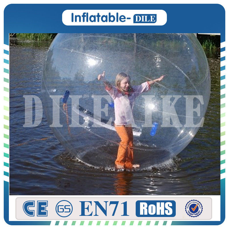 Water Play Equipment Reasonable High Quality 2m/6.6ft Diameter 0.8mm Pvc Inflatable Water Walking Ball Human Hamster Ball Zorb Ball Water Balloon