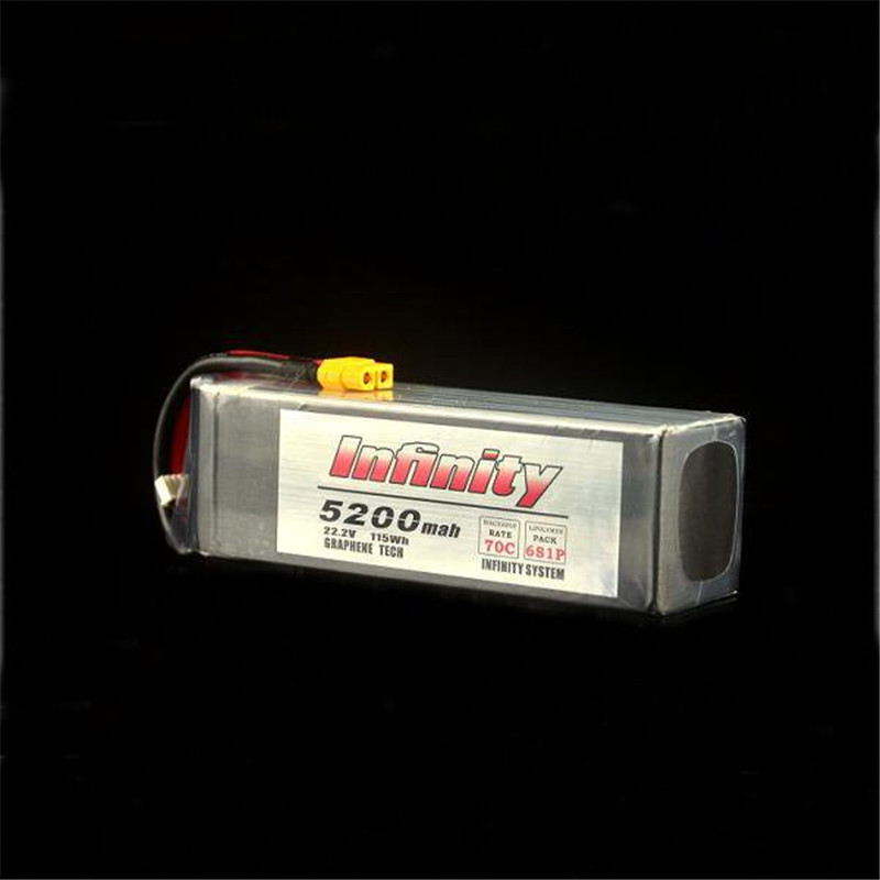 Hot Sale For Infinity 6S 22 2V 5200mAh 70C Graphene LiPo Battery XT60 Support 15C Boosting
