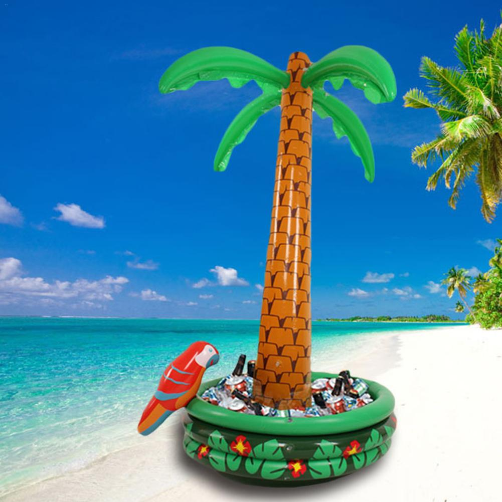 Hawaii Series 180cm Inflatable Large Coconut Palm Tree Ice Bucket Drink Pool Cube Beer Whiskey Freeze Sandbeach Party Decoration