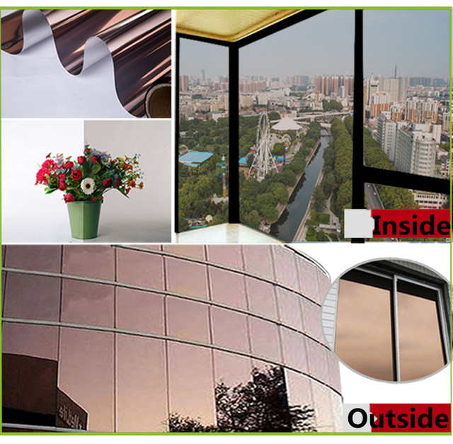 1 52 x 30m mirror silver uv reflective window film one way privacy tint protection decorative