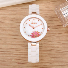TOP watch Free shipping KEZZI fashion watches women luxury brand diamond scale simple dress Wristwatch ceramic