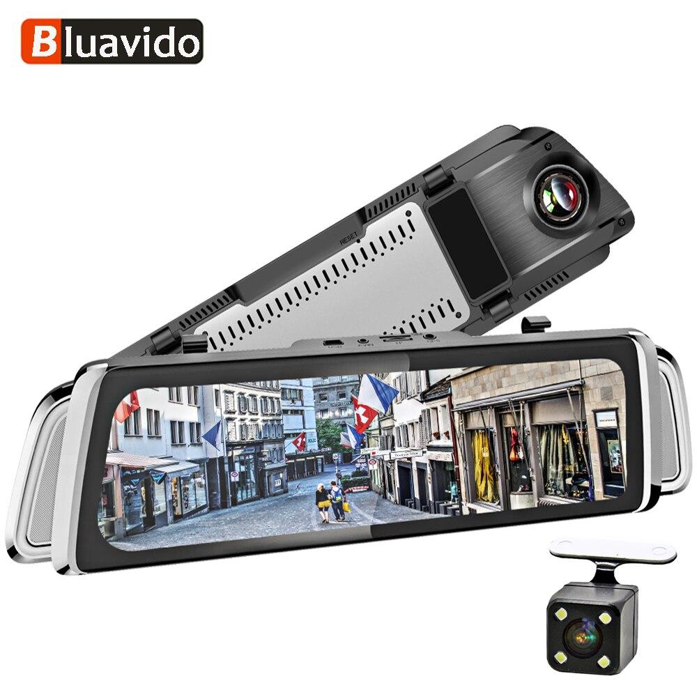 Bluavido Recorder Mirror Remote-Monitor Navigation Android Car-Video-Camera Dash-Dvr