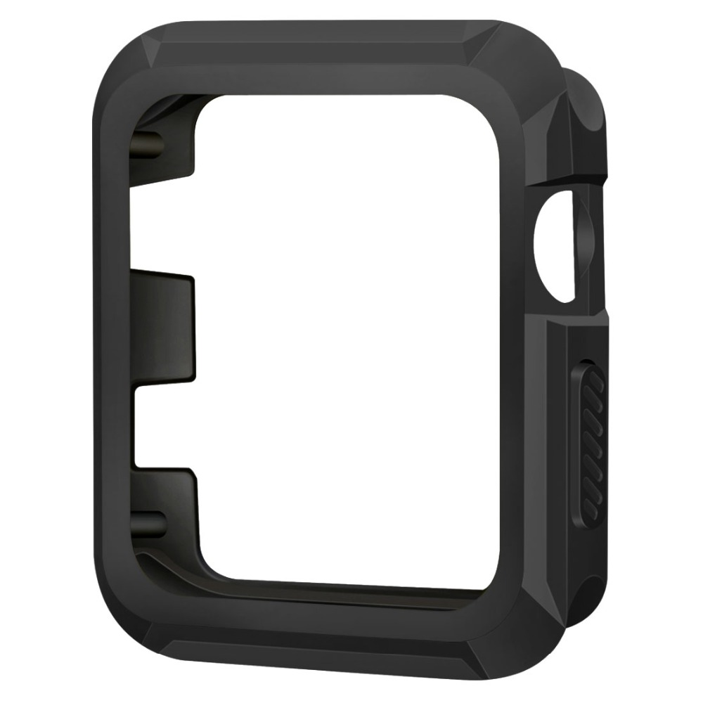 Silicone TPU Gel Bumper Protective Case Cover For Apple Watch Series 3/2/1 38mm 42mm uhappy protective tpu back case cover for up520 gray