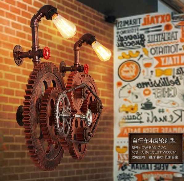 Промышленный винтажный настенный светильник в стиле лофт для домашнего декора, антикварная лампа для водопровода, прикроватный настенный светильник Edison Lampara Pared