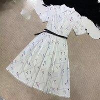 Сексуальное женское платье 2019 Платье женское кружевное модное ретро платье с длинным рукавом с цветочным принтом женские летние платья
