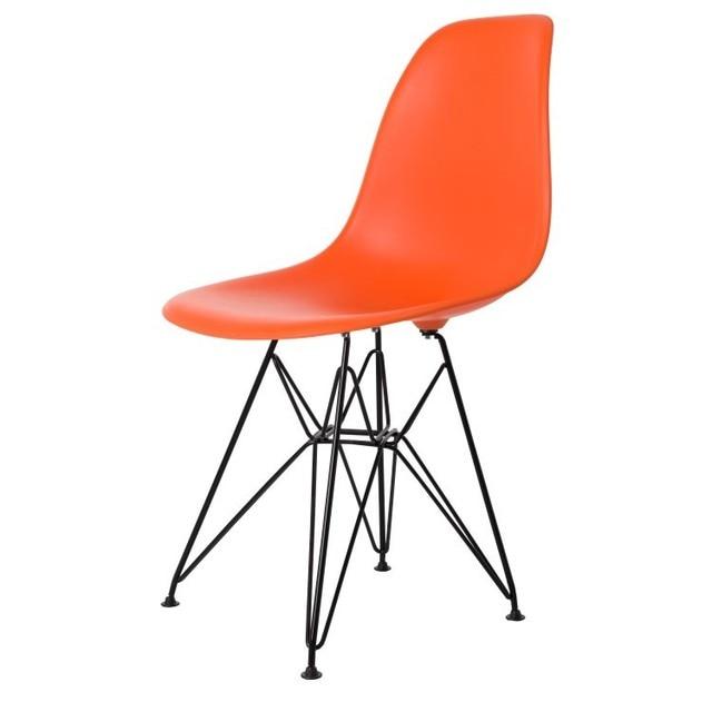 Black Metal Steel Leg Modern Design Fashion Plastic Metal Side Dining Chair  Popular Hot Sale Fashion