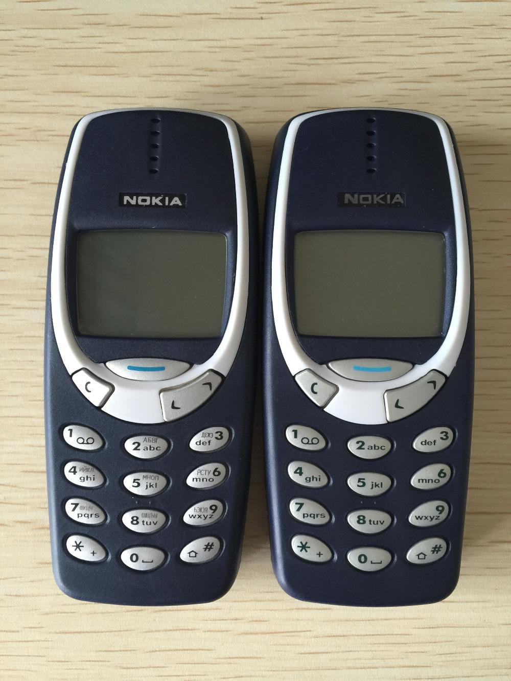 Refurbished phone Nokia 3310 cheap phone unlocked GSM 900/1800 with multi language dark blue 2