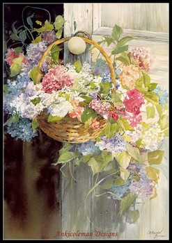 Needlework for Embroidery DIY French DMC High Quality - Counted Cross Stitch Kits 14 ct Oil painting - Door Flowers