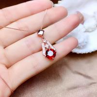 925 silver women's Garmet pendant fasion necklace
