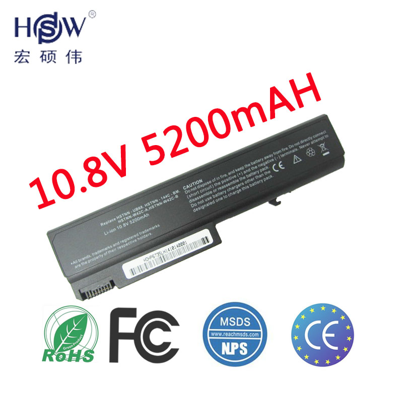 HSW 5200mah 6cells Laptop Battery For HP ProBook 6550b 6555b For Hp Compaq Business Notebook 6530b 6535B 6730B 6735B bateria generic new black laptop us keyboard for hp compaq 6530b 6535b series replacement parts