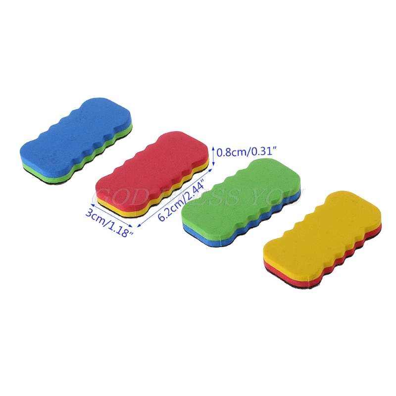 1 PC Colorful Whiteboard Eraser For Dry Board Multi Color Office School Supply image