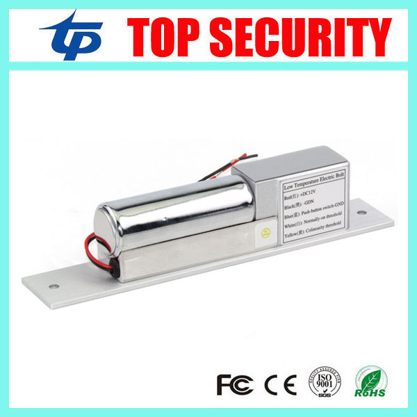 Free Low Temperature Electric Bolt Lock 2-Lines DC 12V Stainless Steel Heavy-duty Fail-Safe Drop Door Access Control System dc 12v fail safe electric drop bolt lock for door access control low tempreture 5 lines external installation electric bolt lock