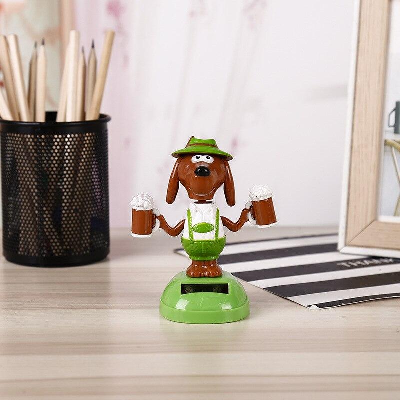 Волшебная игрушка на солнечных батареях для танцев собак, качающаяся игрушка, подарок, украшение автомобиля, новинка, счастливые танцы, солнечные игрушки для детей - Цвет: F