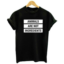 Animals are not ingredients vegan t-shirt