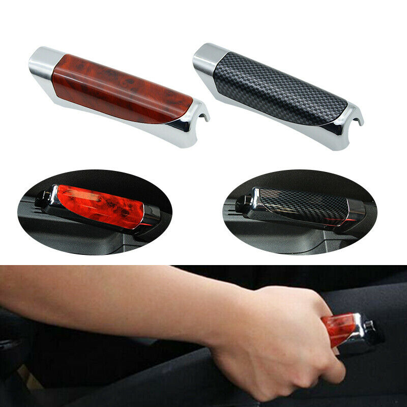 Universal Car SUV Accessory Anti-slip Carbon Fiber Hand Brake Protector Handbrake Grips Cover Sleeve Case Decoration