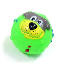 New Pet silicone toys It will sound toy ball Cute dog header free shipping