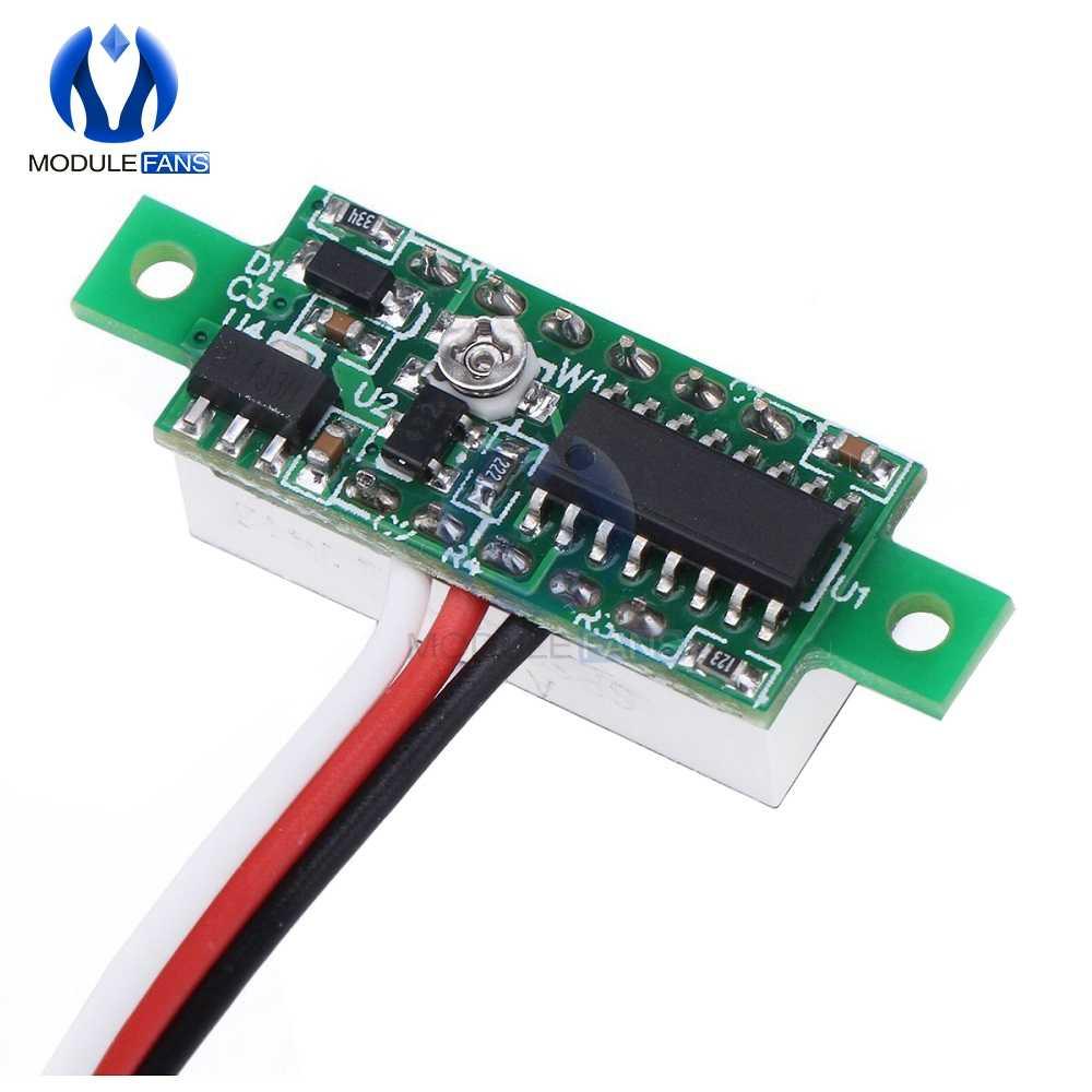 0.28 بوصة LED DC 0-100V الأحمر الفولتميتر شاشة ديجيتال الجهد فولت متر 12V 24V Diy كيت الإلكترونية PCB لوحة تركيبية