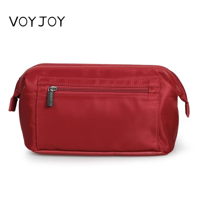 VOYJOY T492 High Capacity Men Zipper Wash Bag Portable Nylon Cosmetic Bag for Women Travel Makeup Bag Penalt Organizador hmc492lp3e 492 qfn16 high quality