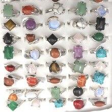 Lot de bagues en pierre naturelle, Bague pour femme, bijoux fantaisie, Bague 50 pièces, livraison gratuite