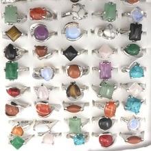 Lote de Anillos de piedra Natural de joyería a la moda para envío gratis