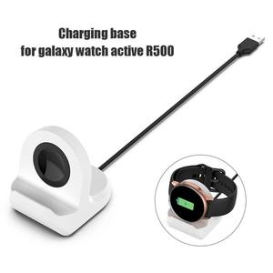 Image 4 - Silicone Charging Stand Dock Cable for Samsung Galaxy Watch Active 40mm R500 Smart Watch Charger Holder for Active 40mm R500 new