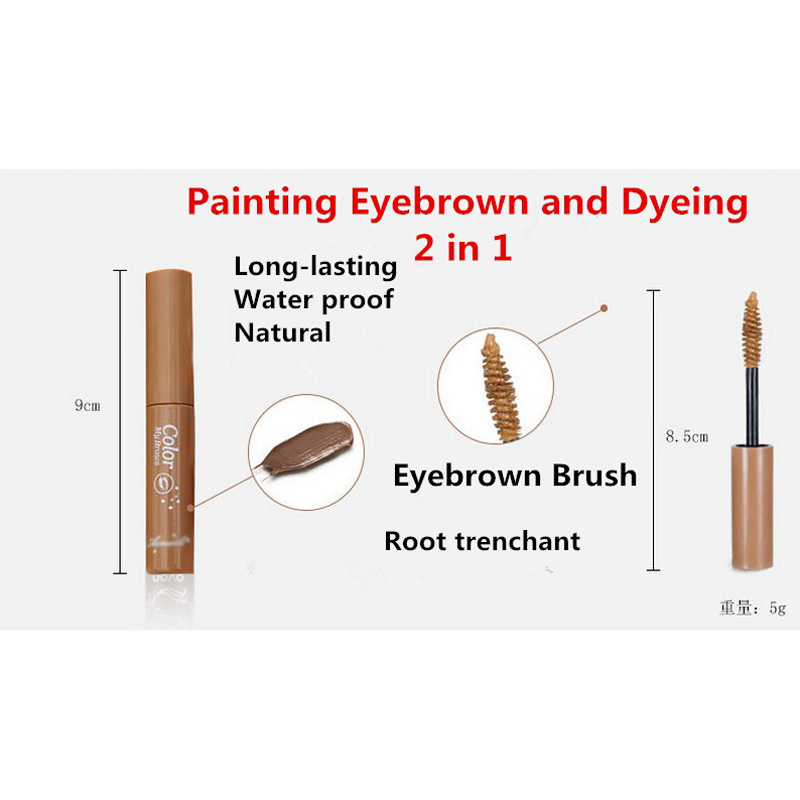 AddFavor 3D Fiber Eyebrow Gel Tint Mascara Cream Paint Eye Brow Makeup Pigment Eyebrow Enhancer Natural Dye Waterproof Eyebrow 13