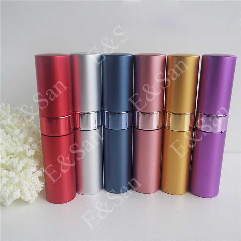 15ml Mini Portable Can Be Rotated Aluminum Refillable Perfume Bottle With Sprayer Empty Parfum Cosmetic Case For Traveler hot sale 15ml refillable portable perfume bottle