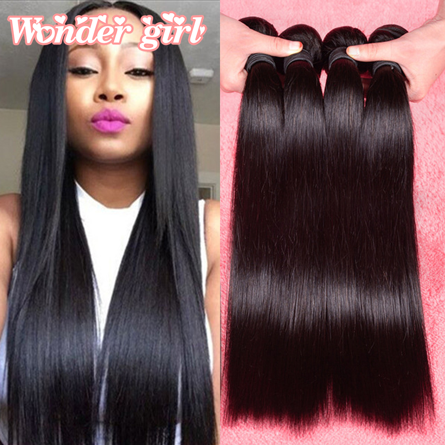 7A Malaysian Straight Hair 4 Bundles Malaysian Virgin Hair ...