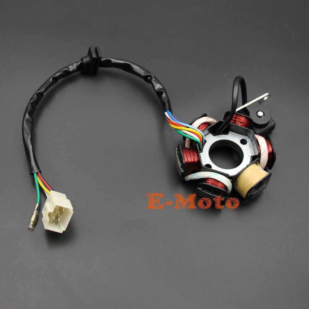 hight resolution of magneto stator 50 70 90 110 125cc engine for honda atv go kart buggy part birt
