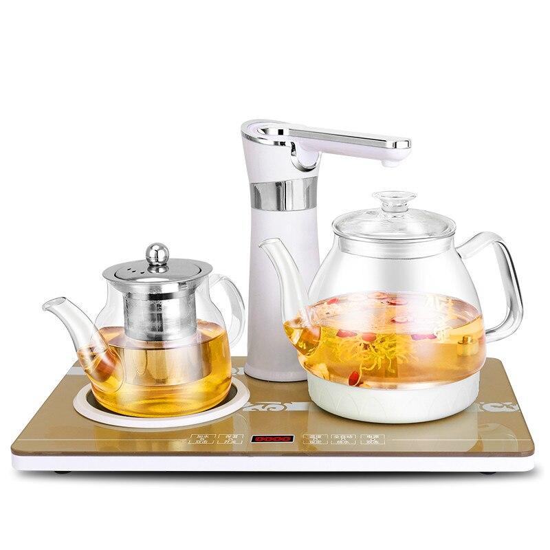 Полностью автоматический верхний чайник электрический стеклянный делая чайный сервиз чашка кипения посуда