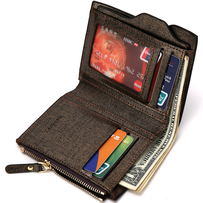 Men/'s Leather Wallet Pockets ID Credit Card Holder Clutch Bifold Purse Gift