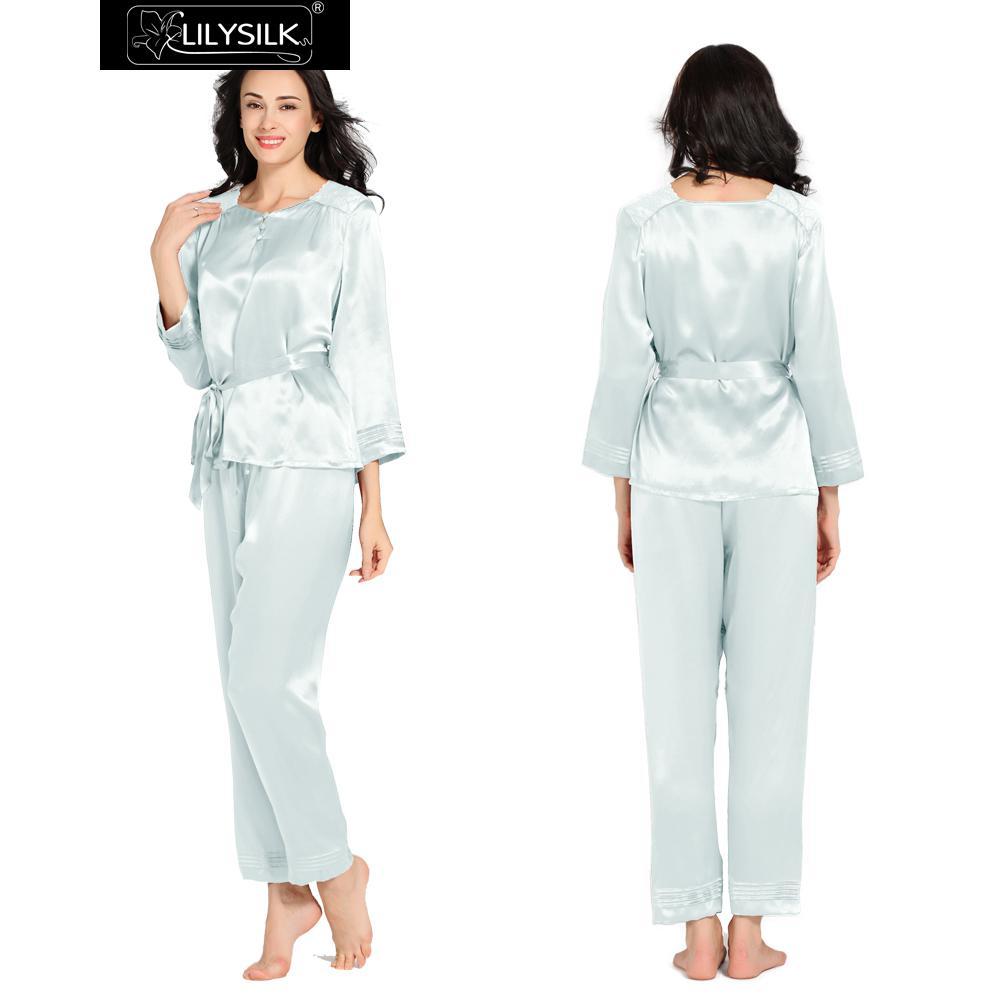 achetez en gros chinois soie pyjamas en ligne des grossistes chinois soie pyjamas chinois. Black Bedroom Furniture Sets. Home Design Ideas