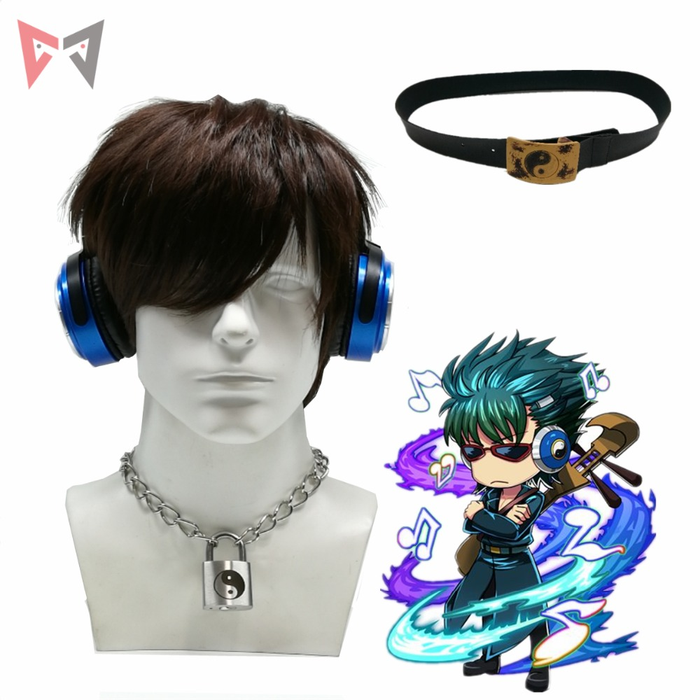 MMGG  Halloween Gintama movie cosplay props KawakamiBansai cosplay earphone lock necklace waistband hand made high quality