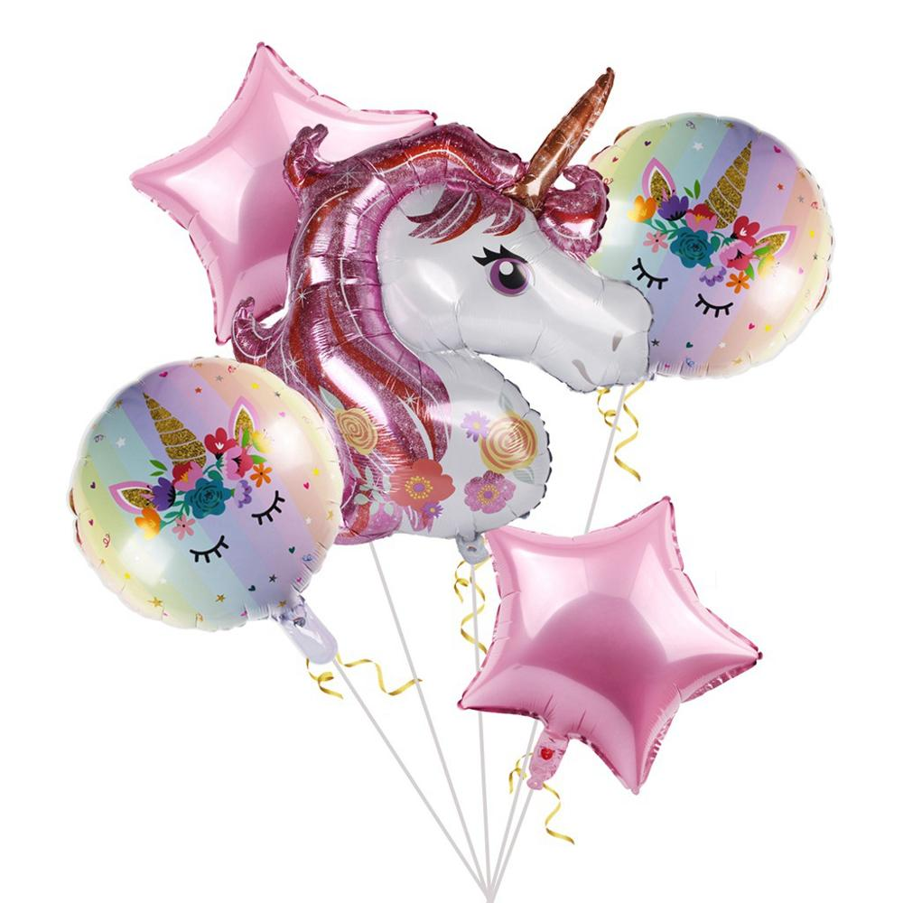 Huiran <font><b>Unicorn</b></font> Birthday Party Decor Kids Favor <font><b>Unicorn</b></font> Party Decor <font><b>Unicorn</b></font> Balloons Unicornio <font><b>Decoration</b></font> Baby Shower Girl Boy image