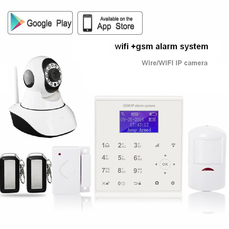433mhz Wireless SIM card GPRS 2.4G wifi GSM alarm system home security Android/IOS APP control with Yoosee IP WIFI camera wifi alarme maison wireless gsm home security alarm system ios android control with ip camera