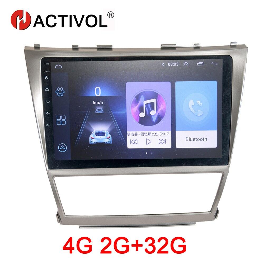 HACTIVOL 2G + 32G Android 8.1 autoradio pour Toyota Camry AURION v40 2006-2011 voiture lecteur dvd de voiture accessoire 4G lecteur multimédia