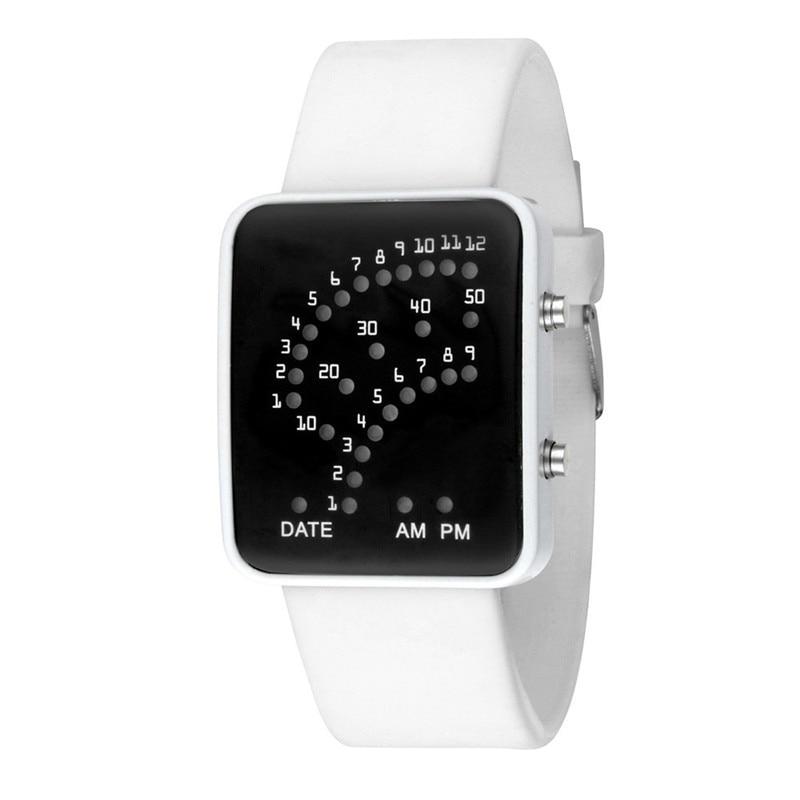 blue shope #4004 Women Mens Futuristic Style Multicolor LED Sport Wrist Watch