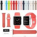 Correa de silicona para apple watch band deporte banda para apple watch correa 42 m/l tamaño