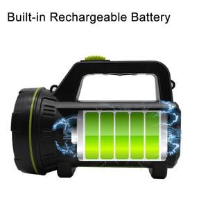 Image 4 - גבוהה כוח LED פנס USB נטענת פלאש אור לפידים מובנה סוללה צד אור לדיג חיצוני קמפינג Protable