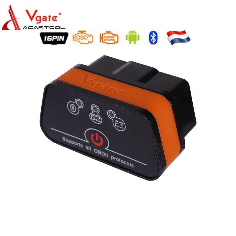 Vgate Icar2 OBD2 ELM327 V2.1 Bluetooth Adapter With ARM Chip Car Diagnostics Scanner Automotriz Code Reader For Android/PC