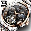 Мужские часы BINGER  деловые  автоматические  полностью стальные  водонепроницаемые  спортивные  Sapphire
