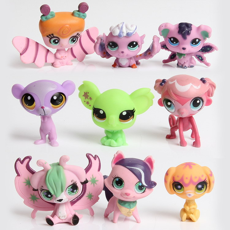 Hot 10Pcs/set Little Pet Shop Toys Littlest cartoon Animal cute Cat Dog Action Figures collection Kids Girl toys Gift K82 блузка mango 43080028