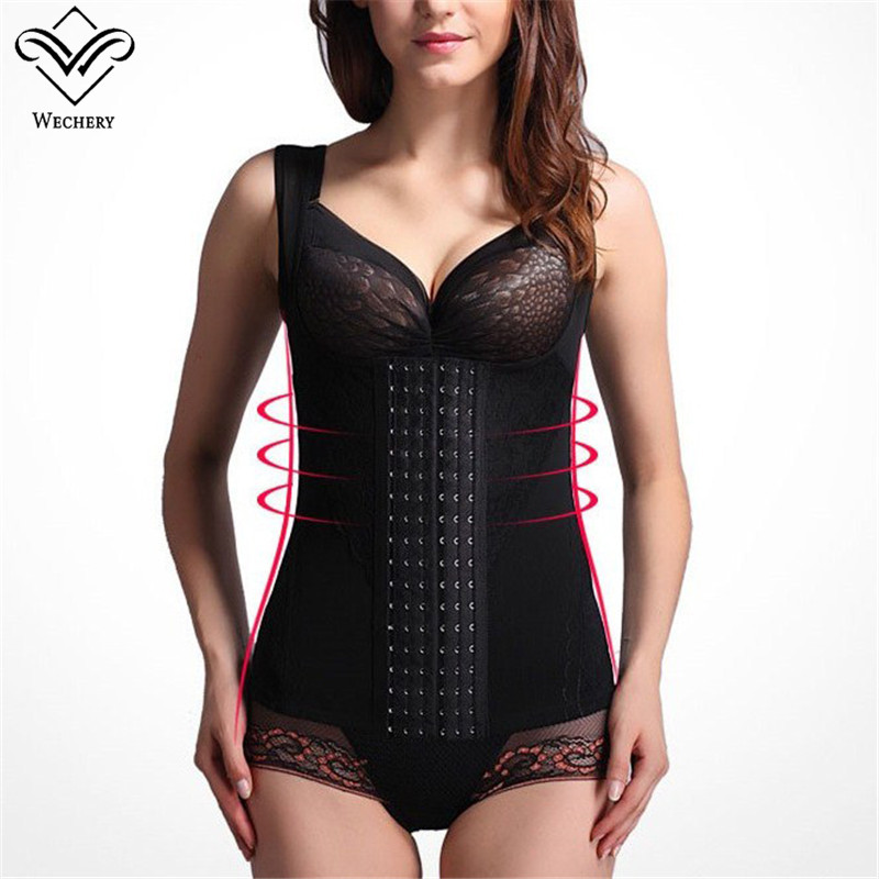 Wechery Slimming Underwear Corset Belt Body Modeling Strap Waist Trainer Seamless Shapers Top Steel Boned Slim Vest Fajas S-6XL