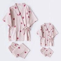 girls pajamas clothes summer Children Japanese pajamas spring summer short sleeved kimono unicornio pyjamas kids