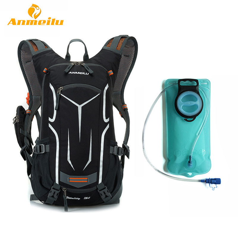 Anmeilu Bike Bag 18L Waterproof Bicycle Bag MTB Road Outdoor Sport Cycling Backpack 2L Water Bag Hydration Bladder Camelback west biking bike chain wheel 39 53t bicycle crank 170 175mm fit speed 9 mtb road bike cycling bicycle crank