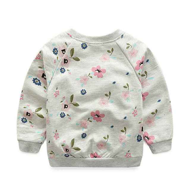 Flower Printed Baby Pullover
