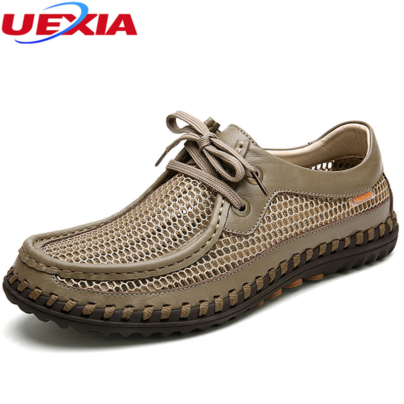 Mesh Flats Solid Breathable Men Casual Sport Shoes Autumn Fashion Men Shoes Lace-up Hollow Lightweight Outdoor Walking Designer men shoes summer breathable lace up mesh casual shoes light comfort sport outdoor men flats cheap sale high quality krasovki