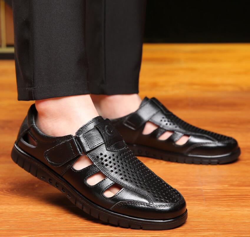 2019 Frühling Sommer Herren Sandalen Aus Echtem Leder Sandalen Outdoor Casual Männer Leder Sandalen Für Männer Männer Strand Schuhe 38- 45